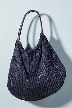Anthropologie Shimmer-Knit Shoulder Bag