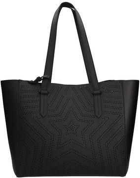 KENDALL + KYLIE Shelly Star Black Faux Leather Tote