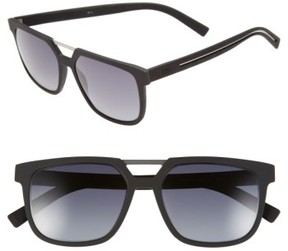 Christian Dior Men's '220S' 55Mm Sunglasses - Matte Black/ Grey Gradient