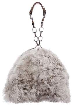Marni Leather-Trimmed Fur Tote