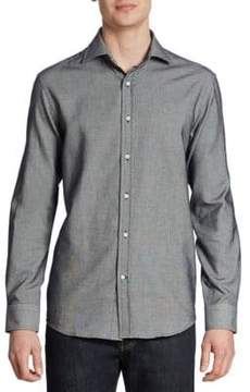 Ralph Lauren Textured Cotton Casual Button Down Shirt