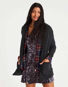 American Eagle Outfitters AE Slouchy Plaited Knit Cardigan