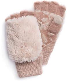 Muk Luks Women's Rose Fingerless Flip Mittens