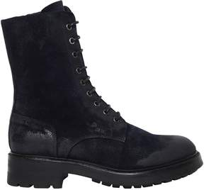 Strategia 30mm Washed Suede Combat Boots