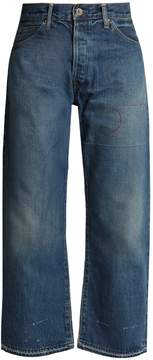 Chimala High-rise relaxed-leg distressed jeans