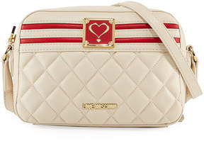 Love Moschino Quilted Faux Napa Crossbody Bag