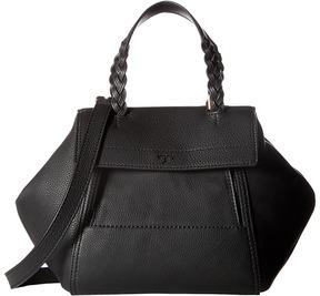 Tory Burch Half-Moon Small Satchel Satchel Handbags - BLACK - STYLE