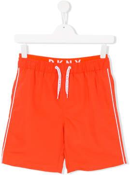 DKNY Teen side stripe track shorts