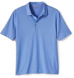 Lands' End Lands'end Men's Short Sleeve Solid Oxford Golf Polo