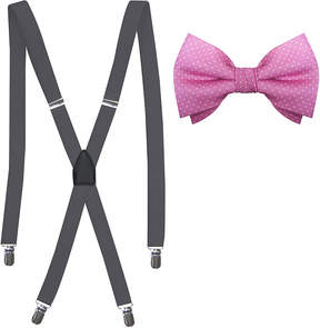Jf J.Ferrar JF Pindot Bow Tie and Suspender Set
