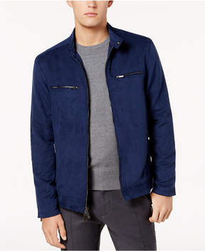 Ryan Seacrest Distinction Men's Modern-Fit Faux-Suede Moto Jacket, Created for Macy's
