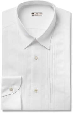Caruso White Bib-Front Cotton And Linen-Blend Shirt
