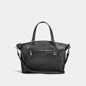 COACH COACH PRAIRIE SATCHEL WITH QUILTING - BLACK/DARK GUNMETAL