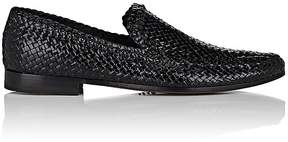 Barneys New York Men's Woven Leather Venetian Loafers