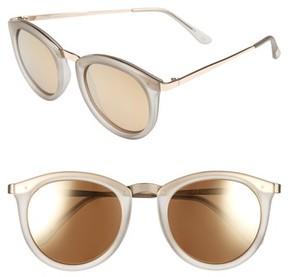 Le Specs Women's No Smirking 50Mm Polarized Sunglasses - Mist Matte