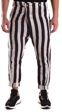 Barbara I Gongini Men's White/black Linen Pants.