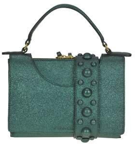 L'Autre Chose Women's Green Leather Handbag.