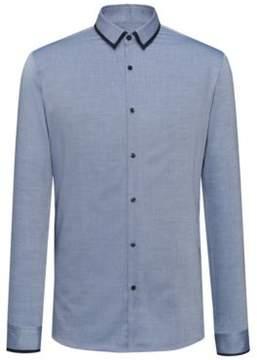 HUGO Boss Easy Iron Cotton Dress Shirt, Extra Slim Fit Emichele 15.5 Blue