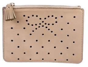 Anya Hindmarch Perforated Leather Zip Pouch