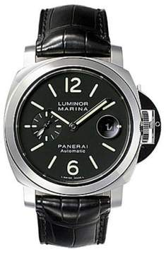 Panerai Luminor Marina Stainless Steel / Leather Automatic 44mm Mens Watch