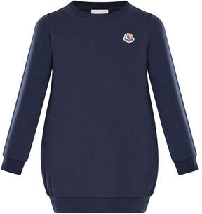 Moncler Terry Long-Sleeve Sweater Dress, Size 4-6
