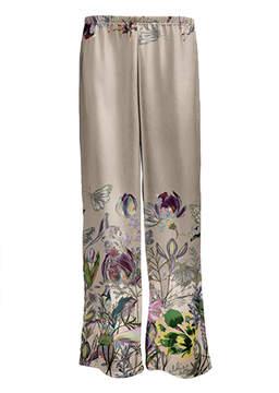 Lily Beige & Purple Floral Palazzo Pants - Women & Plus