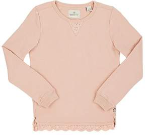 Scotch R'Belle Eyelet-Trimmed Cotton French Terry Sweatshirt