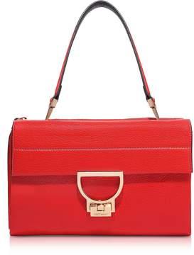 Coccinelle Coquelicot Pebbled Leather Arlettis Shoulder Bag