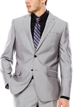Jf J.Ferrar JF Gray Shimmer Shark Suit Jacket - Slim Fit