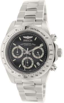 Invicta Speedway Chronograph Black Dial Stainless Steel Men's Watch 7026