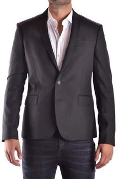Les Hommes Men's Black Polyester Blazer.