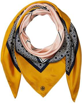 Tory Burch Octagon Silk Square Scarf Scarves