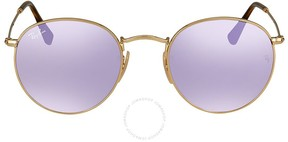 Ray-Ban Round Lilac Mirror Sunglasses