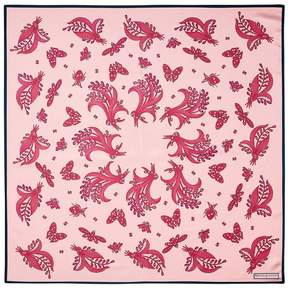 Aspinal of London Summer Field Silk Scarf In Blush