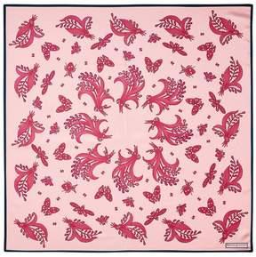 Aspinal of London Summer Field Silk Scarf In Blush