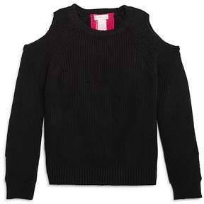 Design History Girls' Cold-Shoulder Back-Cutout Sweater - Big Kid
