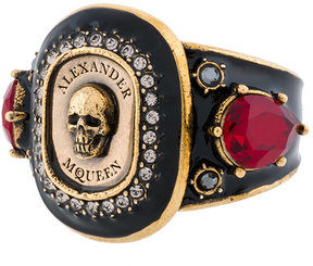 Alexander McQueen Jewelled Medallion ring