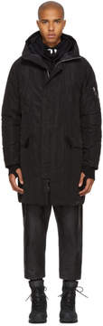 11 By Boris Bidjan Saberi Black Hooded Parka