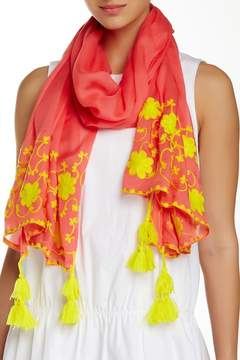 Michael Stars Floral Stitchings Scarf