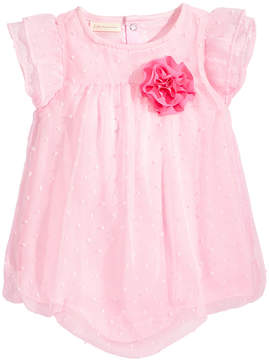 First Impressions Swiss-Dot Bubble Romper, Baby Girls, Created for Macy's
