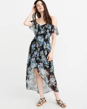 Abercrombie & Fitch Cold-Shoulder Maxi Dress