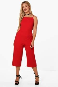 boohoo Plus Crepe Culotte Jumpsuit