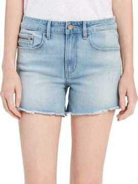Calvin Klein Jeans Frayed Cuff Denim Shorts