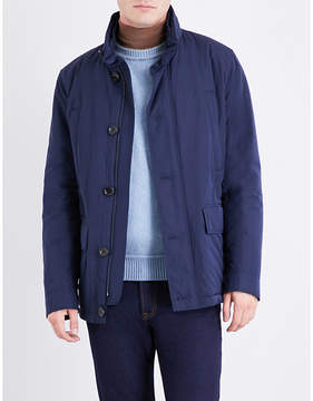 Boss Black Casual Mens Navy Stand-Collar Shell Jacket