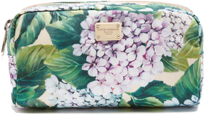 DOLCE & GABBANA Hydrangea-print small twill make-up bag