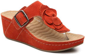 David Tate Women's Splatter Wedge Sandal