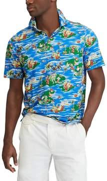 Polo Ralph Lauren Big & Tall Mini-Island Print Short-Sleeve Polo Shirt