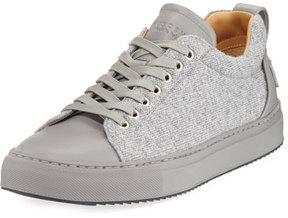 Buscemi Lyndon Wool & Leather Low-Top Sneaker