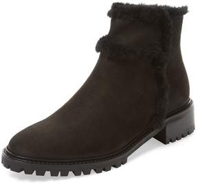 LK Bennett L.K.Bennett Women's Thomasine Leather & Shearling Bootie