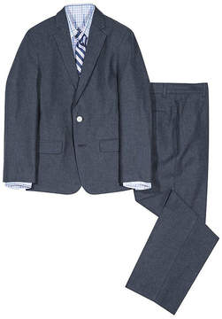 Izod Charcoal Herringbone Four-Piece Suit Set - Boys